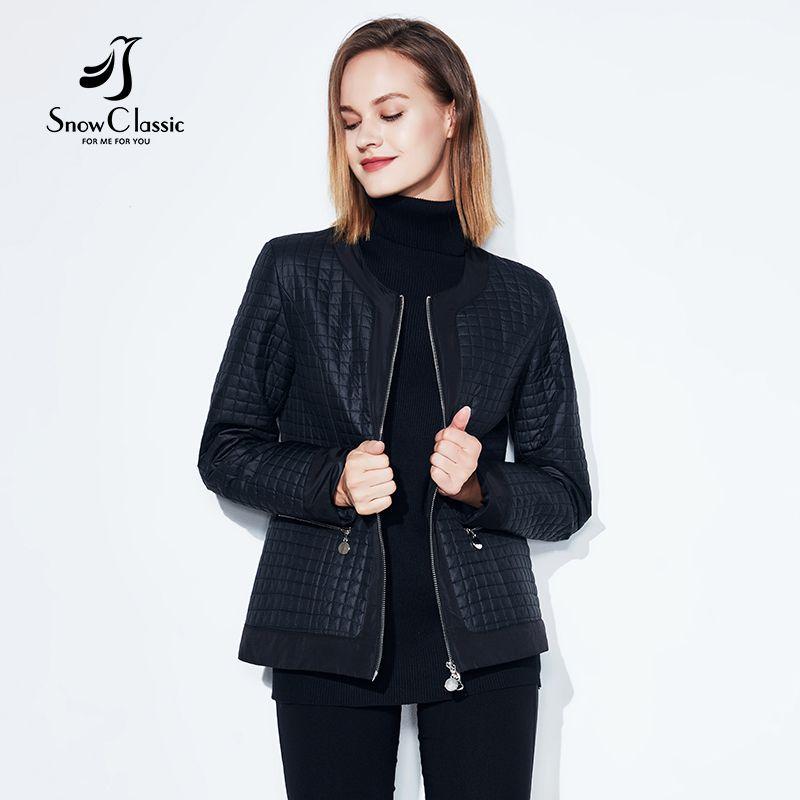 SnowClassic new spring large size loose blouse women's fashion thin cotton warm high-quality European-style women's jacket