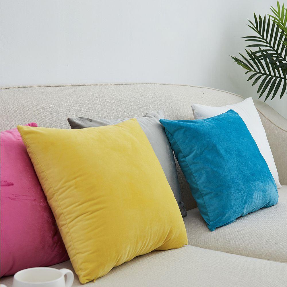 Nouvelle housse de coussin de canapé en velours Super doux 40x40/45x45/50x50/55x55/60x60/65x65/70x70cm taie d'oreiller décorative
