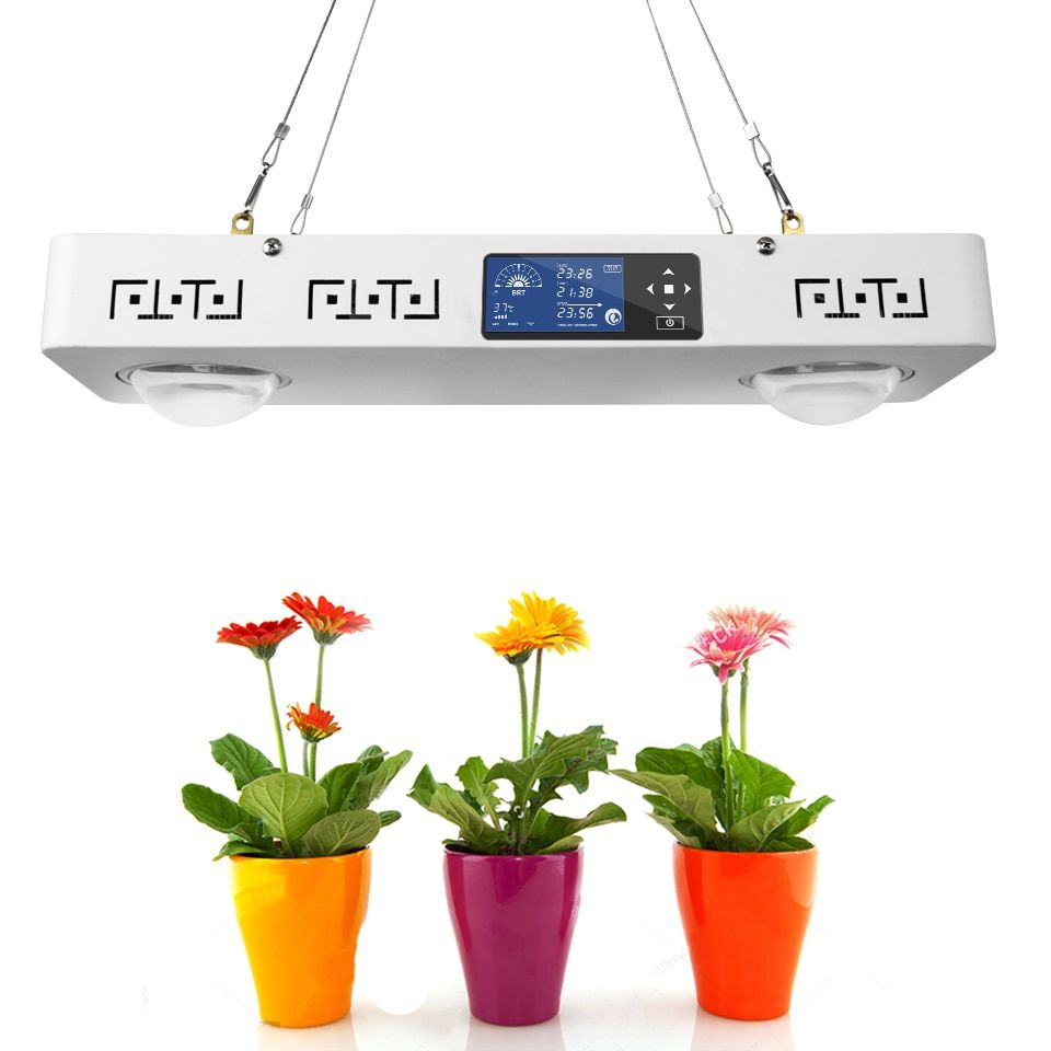 Dimmbare CREE CXB3590 200 W COB LED Wachsen Licht Gesamte Spektrum mit LCD Display Timer Temp-Steuerung für Indoor anlage Alle Bühne Wachsen