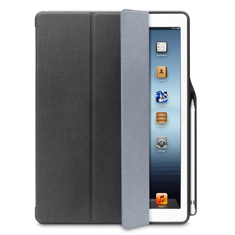 For iPad Pro 12.9 Case Leather  Flip Folio Case With Pencil Holder For Apple iPad 12.9 Cover 2017 & 2015 Auto Sleep/Wake Stand