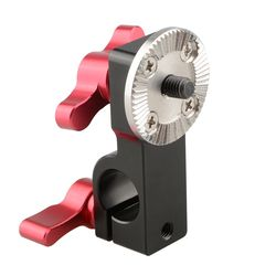 CAMVATE 15mm Rod Clamp with Male ARRI Rosette Mount (Red Thumbscrew)