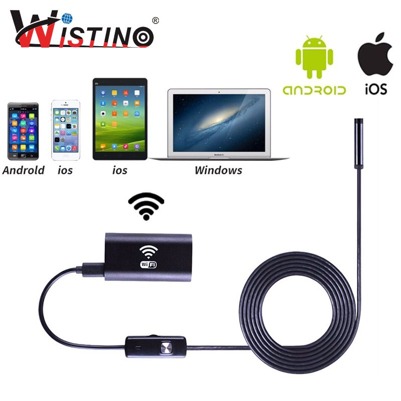 8mm Wifi Endoscope Soft Cable Mini Smartphone Camera Android HD 720P Surveillance Tube Pipe Iphone Endoscope Ip67 Inspection