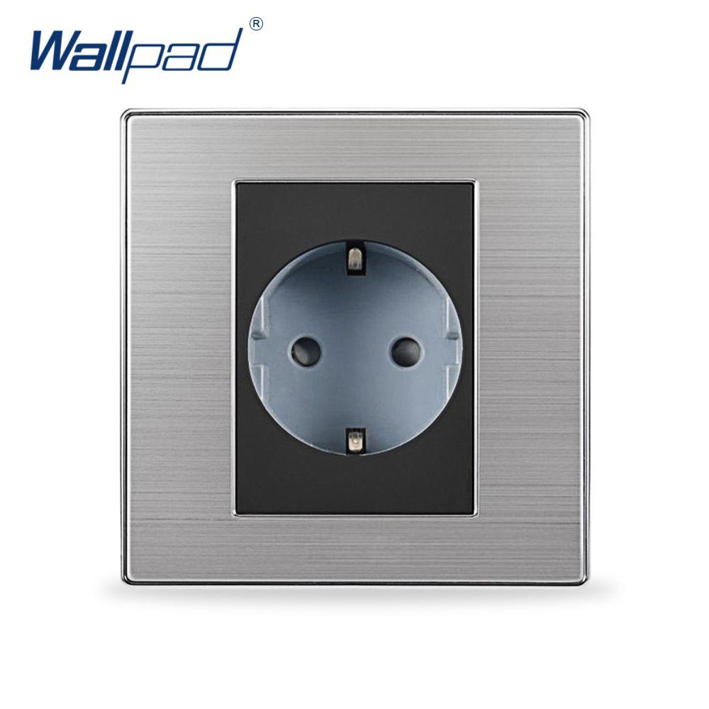 Vente chaude 2 Pin UE Prise Schuko Wallpad De Luxe Mur Électrique Puissance Prise EU une Prise Allemand Standard 16A AC 110 ~ 250 v