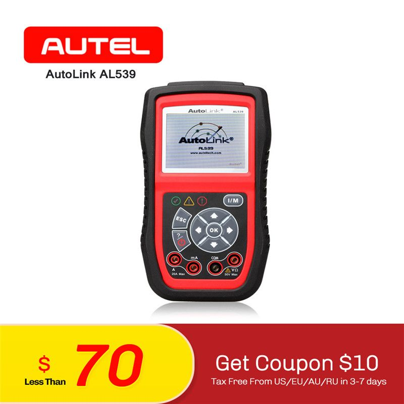 AUTEL AutoLink AL539 OBDII Electrical Test Tool AVO Meter Automotive OBD2 CAN Code Reader Scanner Diagnostic Tool ELM327 as Gift
