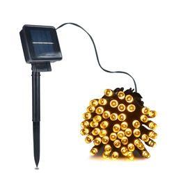 50/100/200 Светодиодные полосы наружные фонари работающие на солнечной энергии светодиодный струнный свет фея Праздник Рождественская Вечерин...