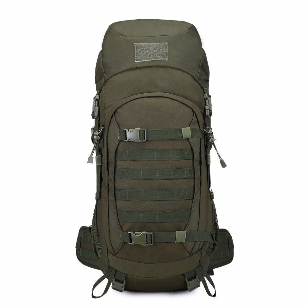 Горы 50L путешествия тактический рюкзак Водонепроницаемый 600D полиэстер Военная Униформа Молл сумка для Охота Пеший туризм, с крышкой дождя