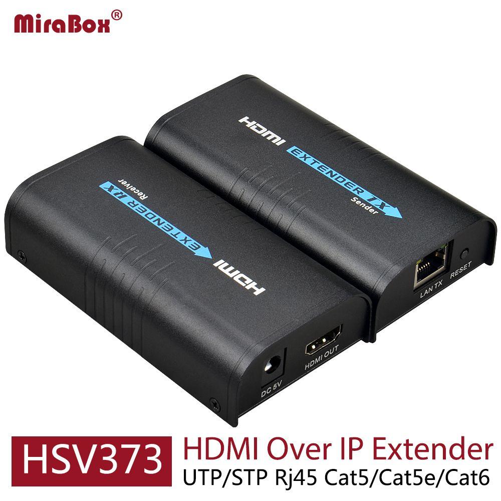HSV373 HDMI Extender Ethernet soutien 1080 P 120 m HDMI Extender Ethernet sur Cat5/Cat5e/Cat6 Rj45 HDMI sur IP Extender