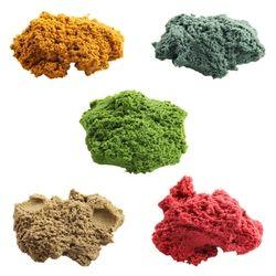 100 g/bag Pasir Kinetik Dinamis Sihir Tanah Liat Menakjubkan Dalam Ruangan Bermain Warna Menyenangkan Hadiah Mainan