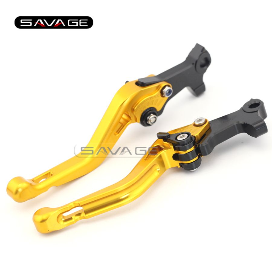 For GILERA/PIAGGIO NEXUS 500 /CARNABY 125/200/250 Gold Motorcycle Aluminum Adjustable Short Left Right Brake Levers