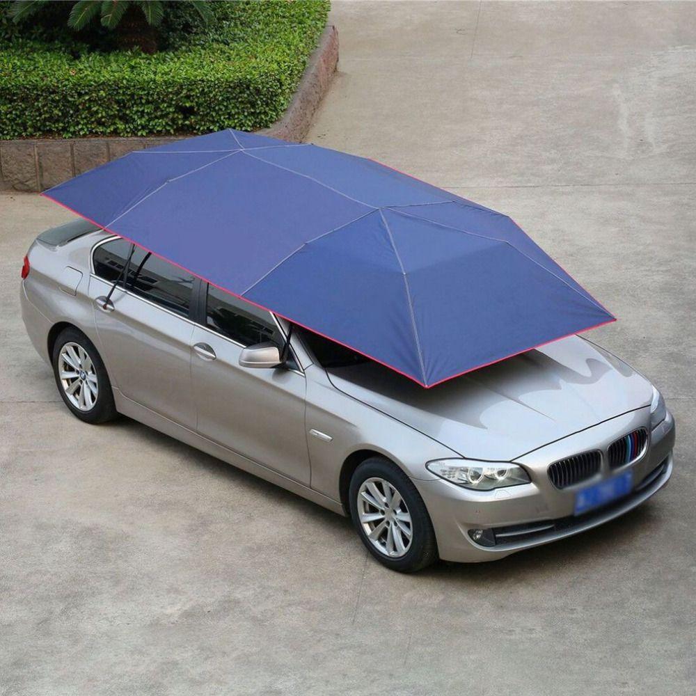Die neueste 2018 Voll Automatische Auto Zelt Beweglichen Sonne Schatten Regenschirm Staub-proof Markise Sun-proof Auto Regenschirm mit Fernbedienung