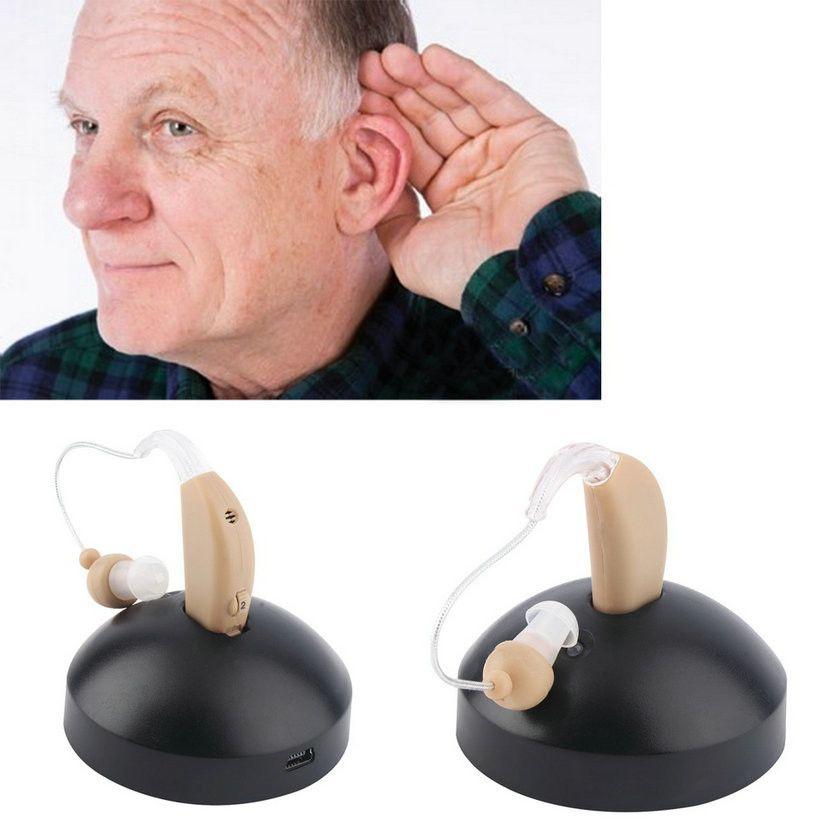 New ear plugs Rechargeable ear hearing aid mini device digital  voice amplifier behind ear durable soft product Hot sale EU plug