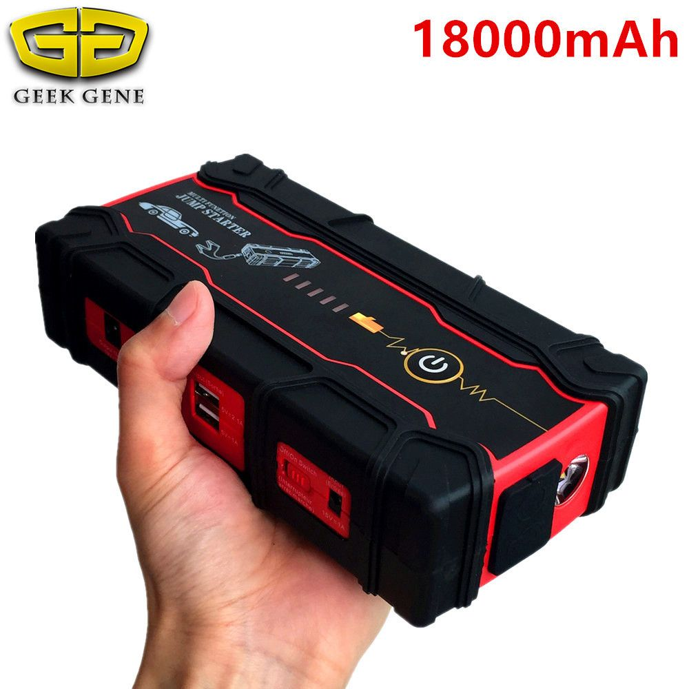 High Capacity 18000mAh Car Jump Starter Portable Starting Device Power Bank Biggest Car Charger For Car Battery Booster Buster
