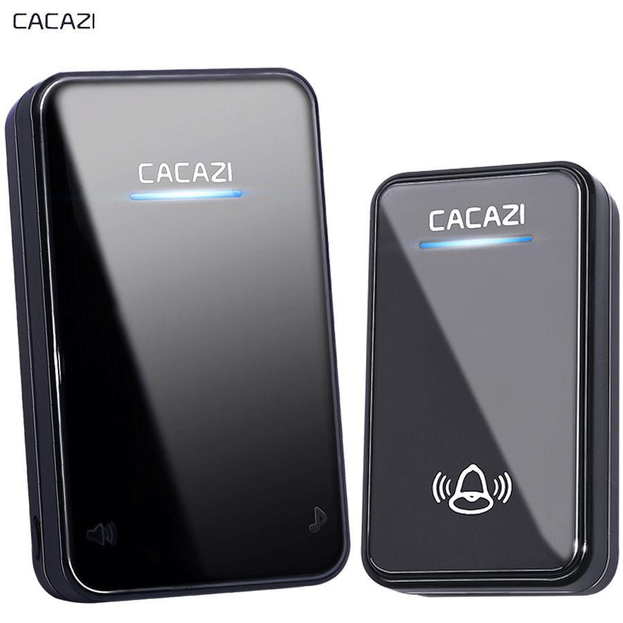 CACAZI New Wireless Doorbell Waterproof 300M long range EU AU UK US Plug smart Door Bell Chime battery 1 2 button 1 2 3 receiver