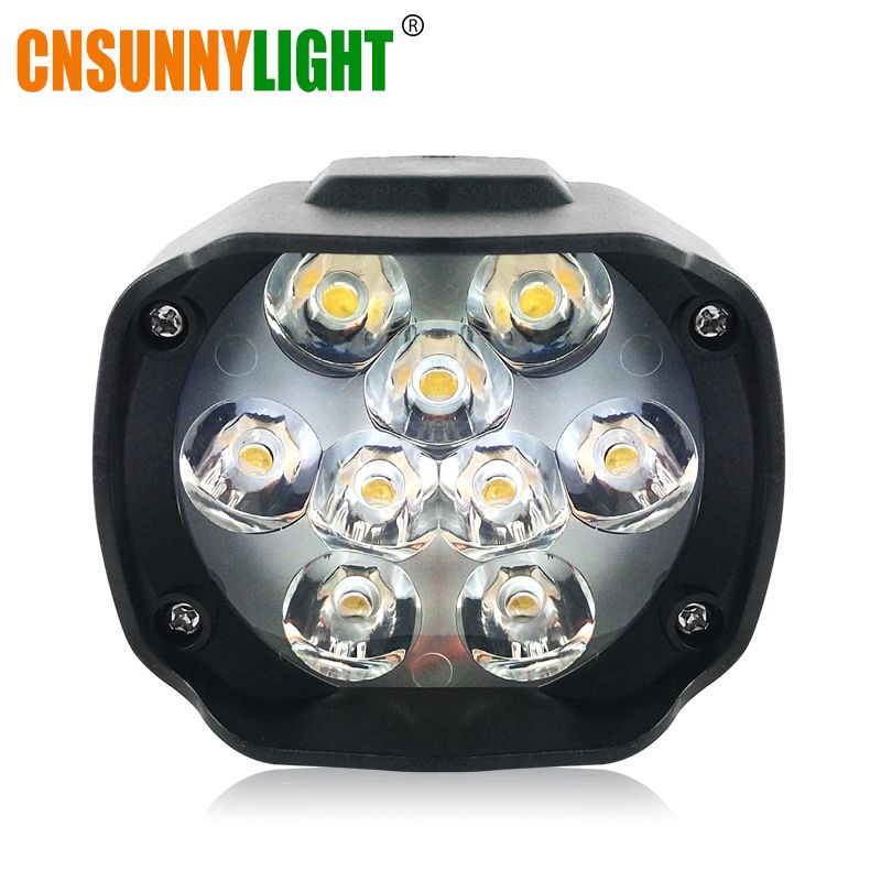 CNSUNNYLIGHT Super Bright High Power 6W Motorcycle Led Light Fog Spot White Headlight Working Light DC 12V 24V External Lighting