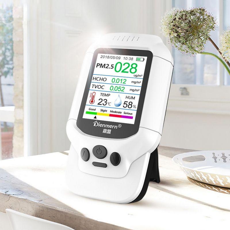 PM 2.5 Air Quality Sensor Mini Portable Gas Laser Tester Multi-function Fast Response Haze Analyzer High Precision Gas Detector