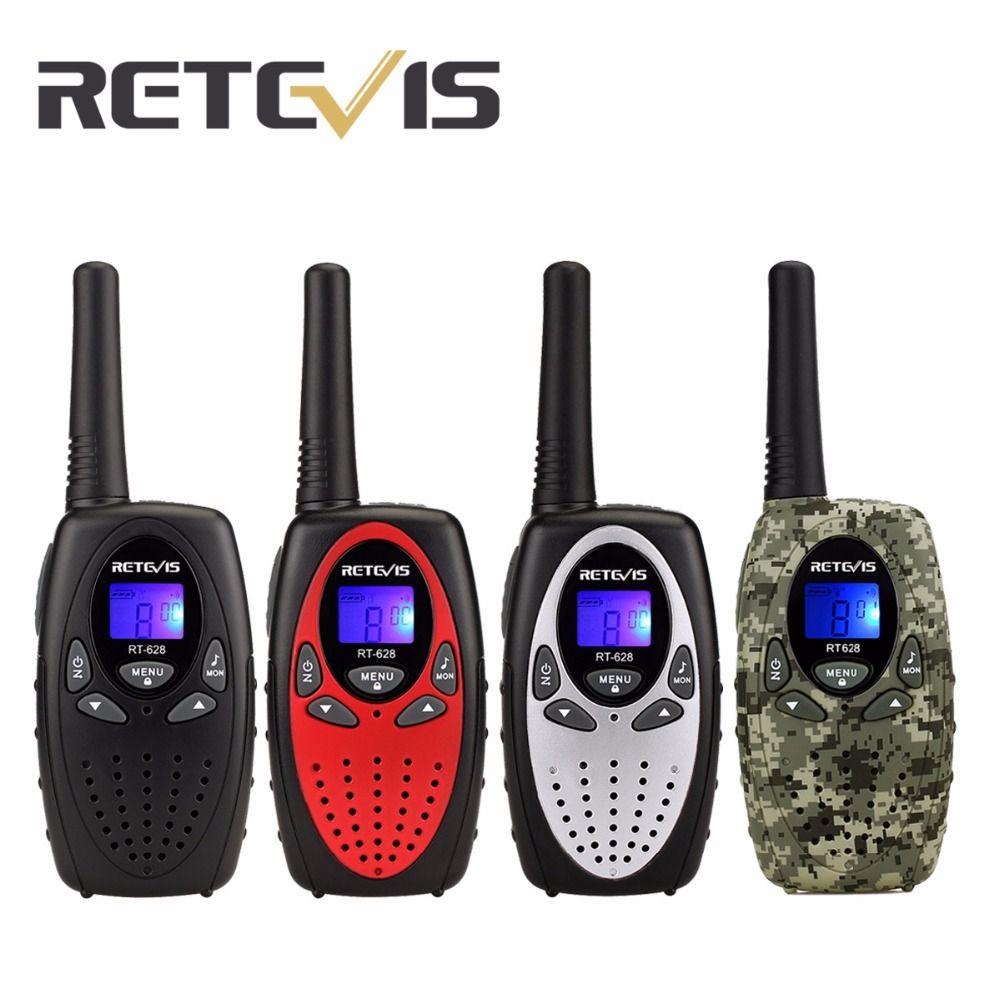 2pcs Walkie Talkie Kids Retevis RT628 0.5W UHF 462.550-467.7125MHz Uhf Frequency Mini Portable cb Radio Set Toy A1026