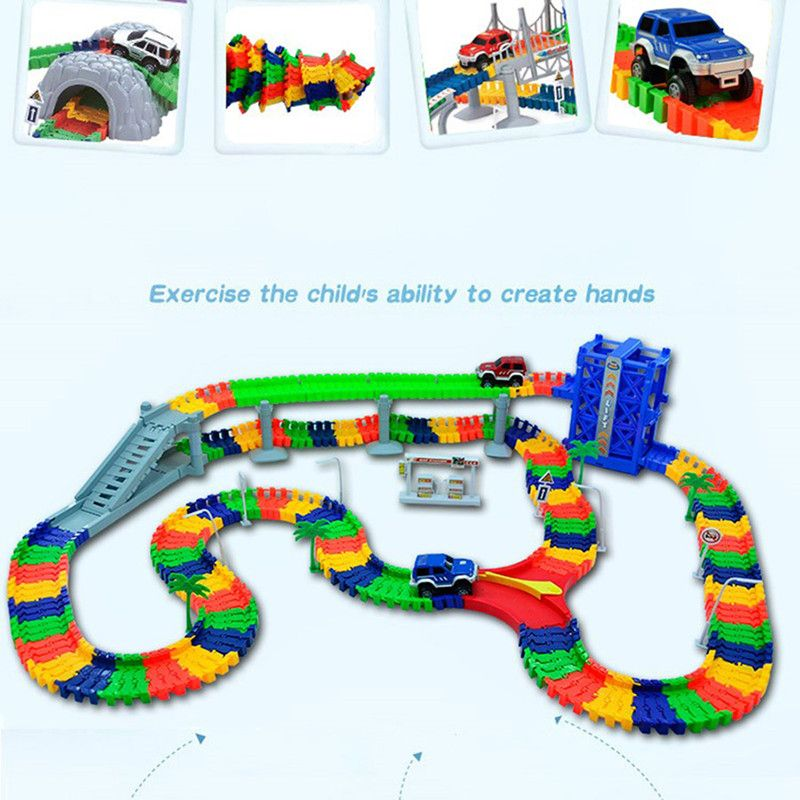 5.5cm DIY Universal Accessories for Magic Glowing Track Educational Rail Car Toy Racing Tracks Car Kids For Toys Christmas Gifts