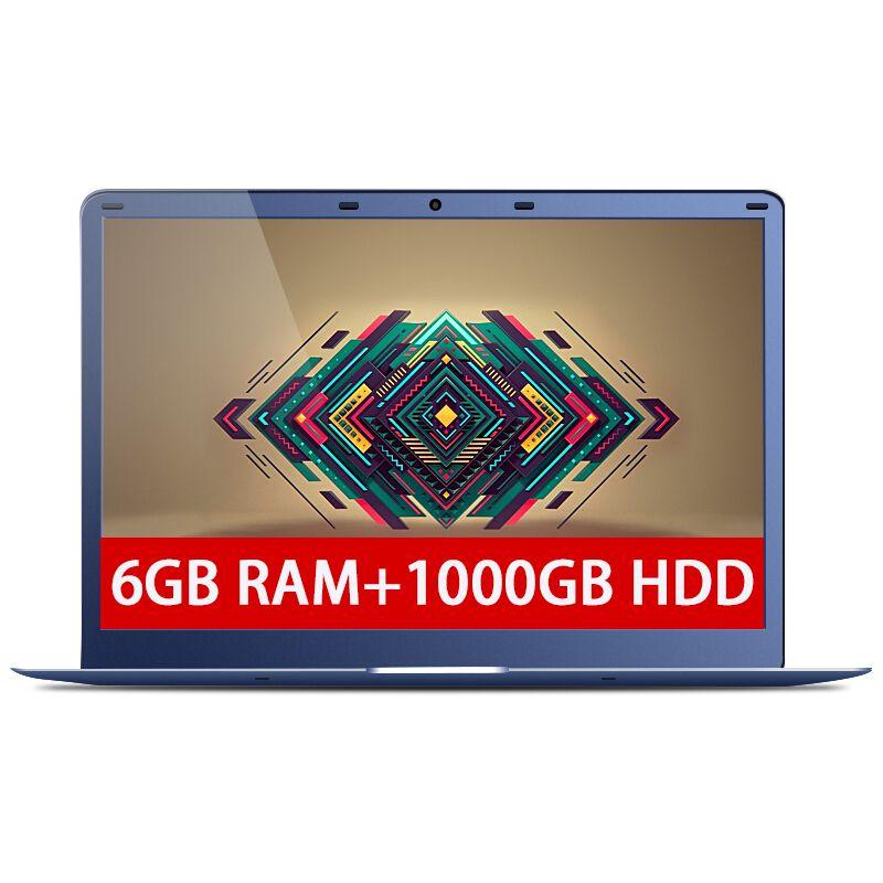 15.6 дюйма 6 ГБ Оперативная память 1000 ГБ HDD Intel Apollo Lake n3450 Оконные рамы 10 Системы 1920x1080 P FHD долго выносливость ноутбука Тетрадь компьютер