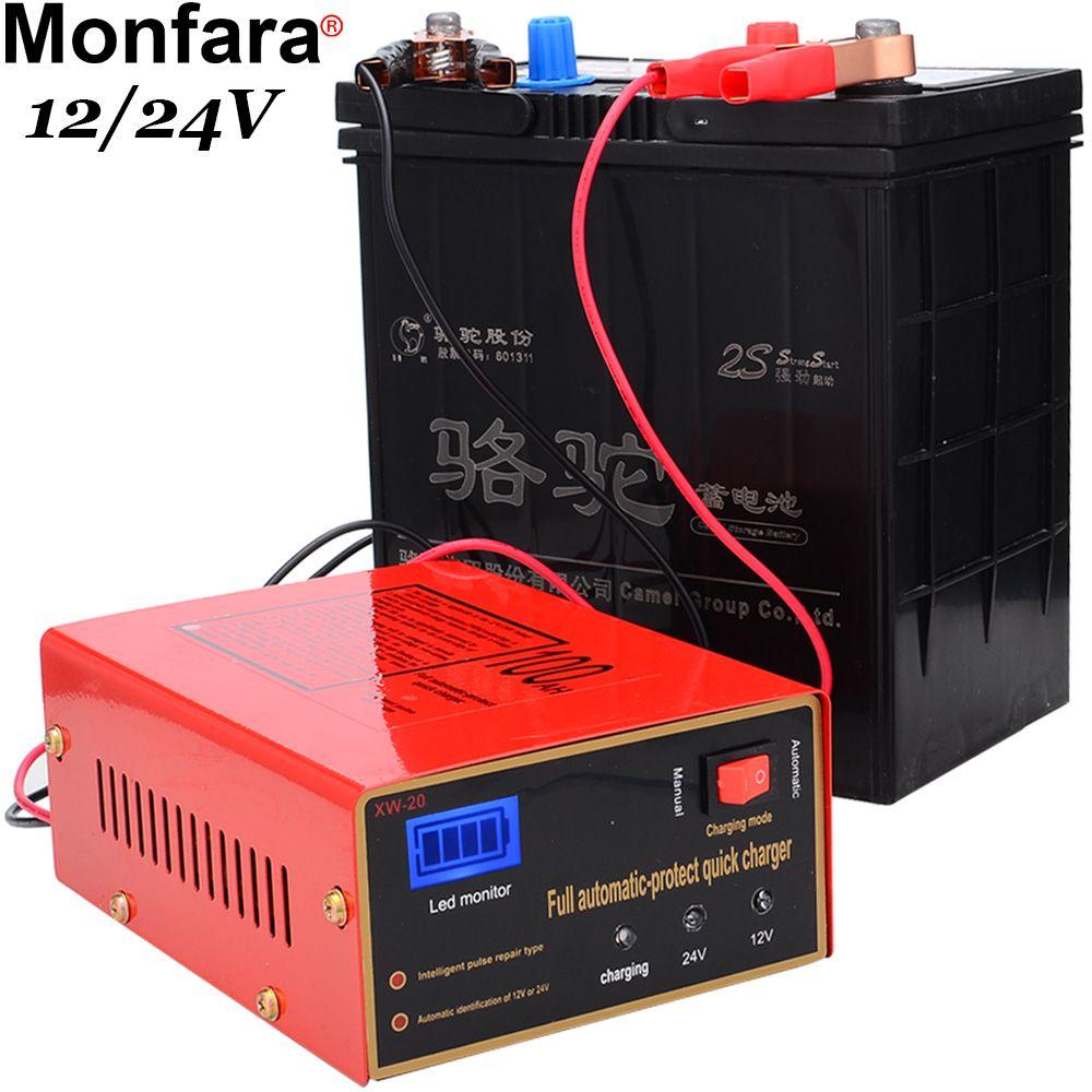 12 V/24 V 10A 6-105AH Universel De Voiture Chargeur de Batterie Moto Chargeur de Batterie Plomb Acide Batterie Chargeur Livraison Gratuite 12002755