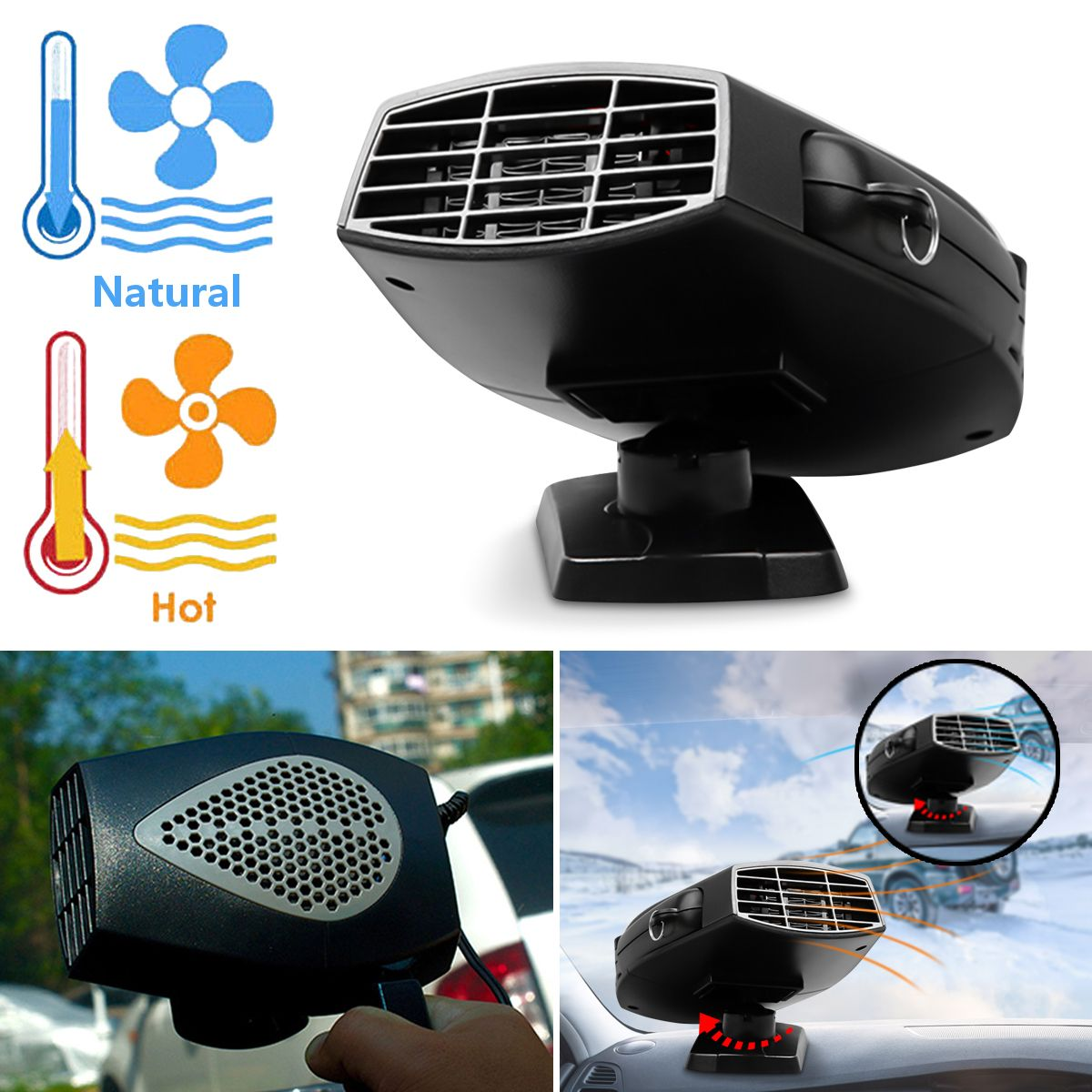 150 watt 12 v Tragbare Auto Lkw Fahrzeug Elektrische Air Fan Auto Heizung Heizung Fan Auto Windschutzscheibe Windows Trockner Defroster demister