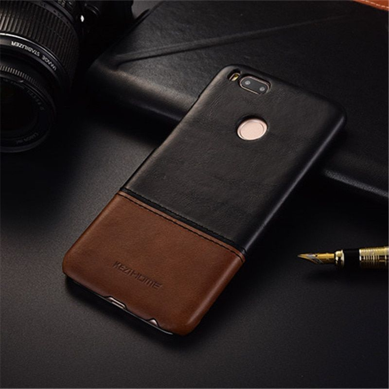 Luxury brand vintage genuine leather back cover case For xiaomi 5x mi A1 phone cases and covers shell