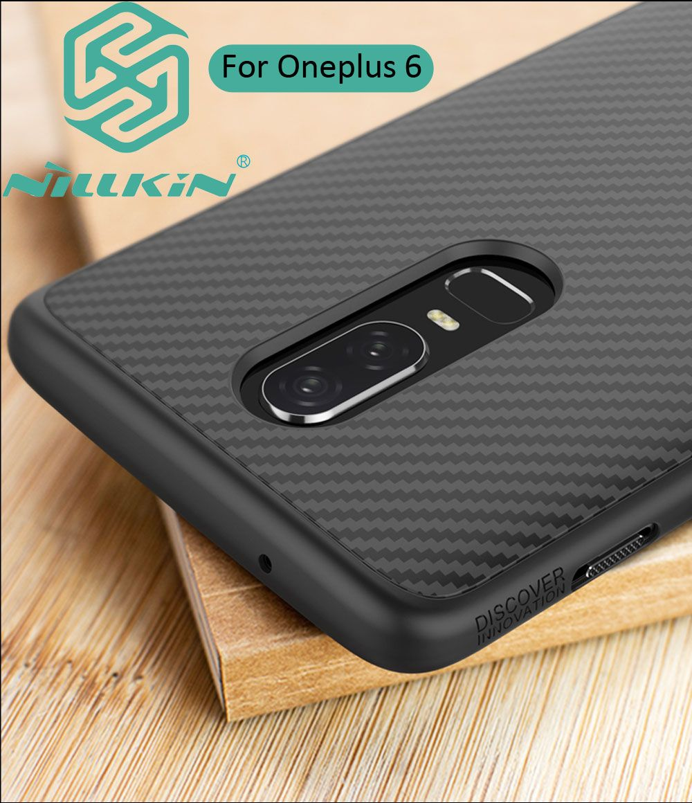 Nillkin Synthetic Carbon Fiber Cover Case For Oneplus 6 Ultra thin Protector Shell