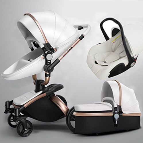 AULON Oyun Long baby trolley cortical bi-directional high-view shock absorber baby carriage can sit in the cart