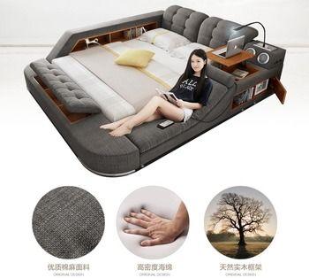 Europe et Amérique tissu tissu lit de massage Moderne Doux Lits Meubles De Maison Chambre cama muebles de dormitorio/camas quarto