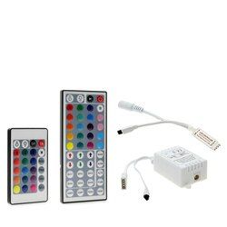 1set Remote Control Dimmer DC 12V 24keys Box 44keys Mini IR LED Controller for SMD 3528 5050 2835 Led Strip Light no battery