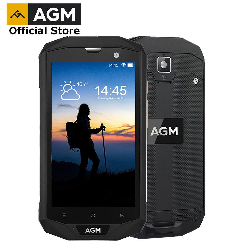 Officiel AGM A8 5 4G + 64G FDD-LTE Android 7.1 téléphone portable 2SIM IP68 téléphone robuste Quad Core 13.0MP 4050mAh nouveau Smartphone NFC OTG