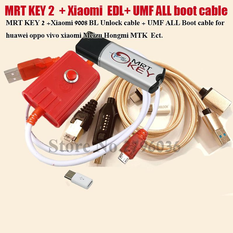 2020 Original MRT KEY 2 Dongle + for GPG  xiao mi Mei zu EDL cable +UMF ALL Boot cable set EASY SWITCHING & Micro USB To Type-C