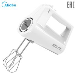 Hand mixer Midea MM-2801 for desserts and cakes, 5 speeds and turbo mode, whisk whipping and wire whip