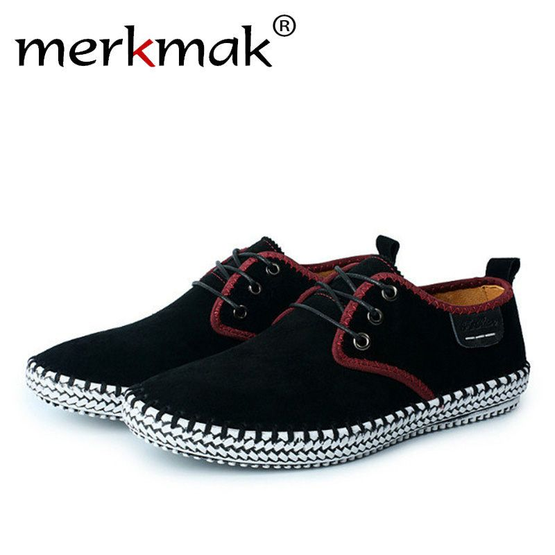 Merkmak Comfort Casual Men Flats Shoes High Quality Suede Man Loafers Summer Autumn Breathable Male Outdoor Footwear Drop ship