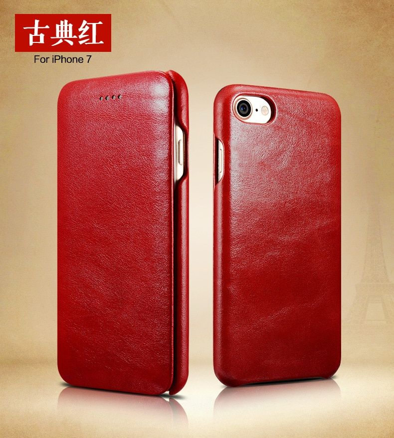 Luxury Leather Case Ultra Thin Wallet Phone Case for Iphone 7 8 Holster Flip Cover Bags