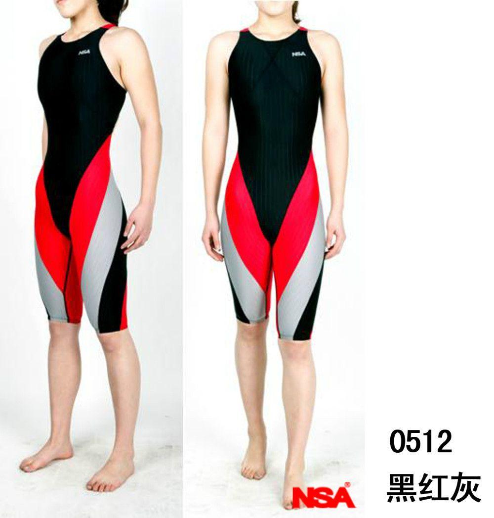 NSA wettbewerb knielangen tauchen anzug frauen training & racing bademode one piece wasserdicht radfahren anzug dame triathlonanzug