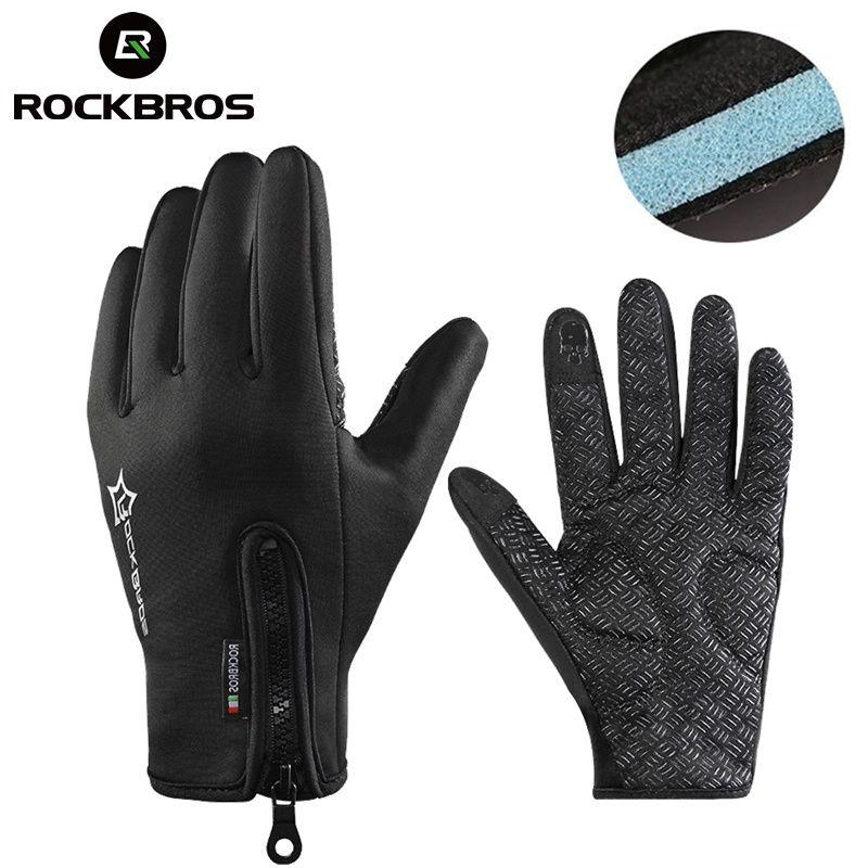 ROCKBROS Winter Snowboard Anti-slip Ski Gloves Thermal Waterproof Sreen Skiing Glove Motorcycle Bike Hiking Climbing Men Women