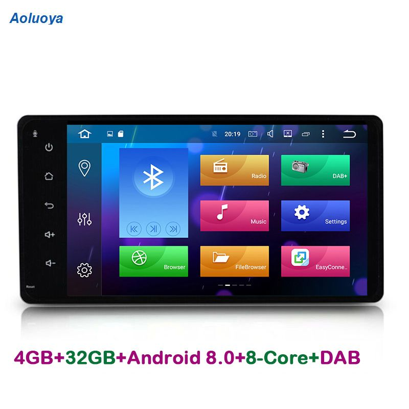 Aoluoya 4GB RAM Octa-Core 2 Din Android 8.0 CAR DVD GPS For Toyota Corolla RAV4 HILUX VIOS PRADO Land Cruiser 100 Sequoia Tundra