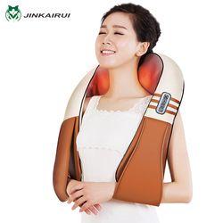 (Con la caja de regalo) jinkairui u forma eléctrica shiatsu espalda Masajeadores de cuello hombro Cuerpo masajeador infrarrojo amasamiento climatizada coche/home massagem