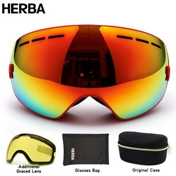 New HERBA brand ski goggles double UV400 anti-fog big ski mask glasses skiing men women snow snowboard goggles HB3-3