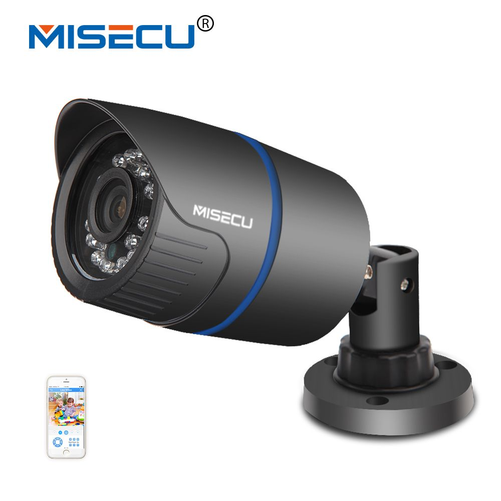 MISECU <font><b>2.8mm</b></font> wide IP Camera 1080P 960P 720P ONVIF P2P Motion Detection RTSP email alert XMEye 48V POE Surveillance CCTV Outdoor