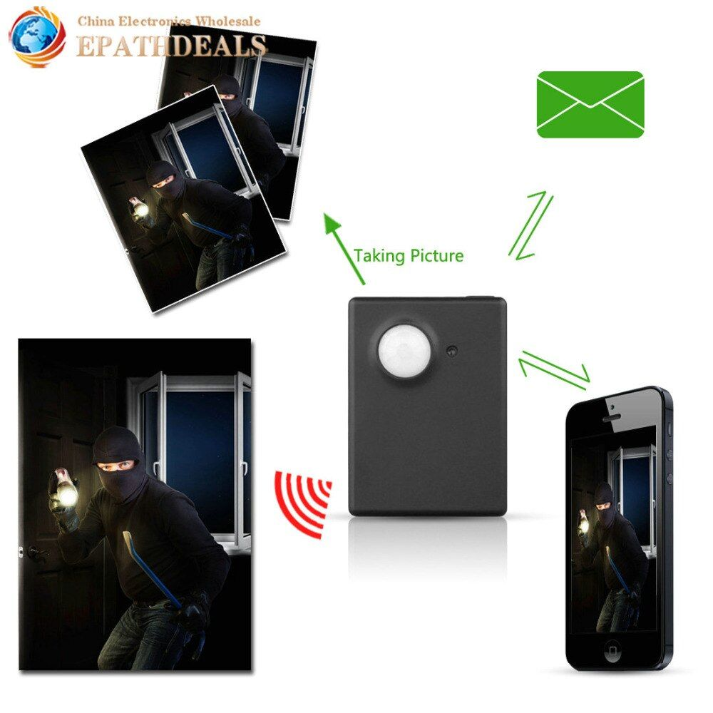 Wireless Mini 1.3M Infrared Camera Video Security GSM Tracker Autodial Home Office GPS PIR MMS Alarm System