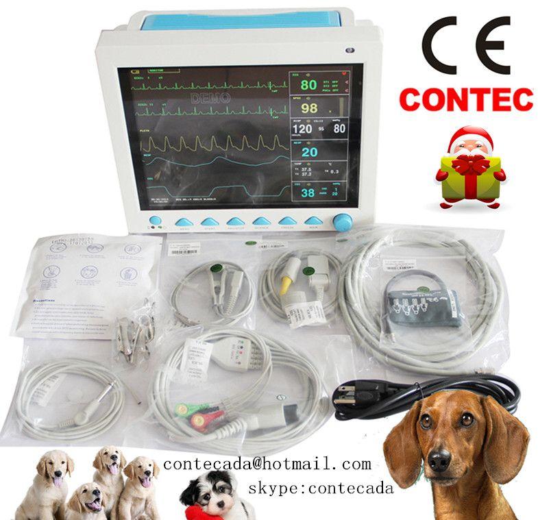 CE FDA Contec CMS8000 Tierarzt Multi-parameter Veterinär Patienten Monitor für Tiere