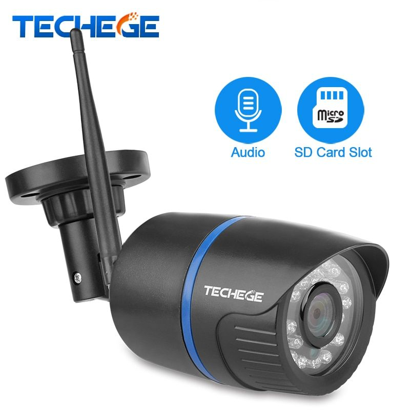 Techege 720P WIFI IP Camera Audio Record 1080P HD Network 1.0MP Wireless Camera Onvif Night Vision Waterproof IP Camera Yoosee