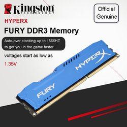 Kingston HyperX Fury serie Azul DDR3 4 GB 8 GB DIMM Intel memoria de juegos 1866 MHz CL10 para PC de escritorio