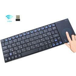 Оригинальная Беспроводная Клавиатура Rii i12plus с сенсорной панелью русская испанская французская Английская версия для приставка для телеви...
