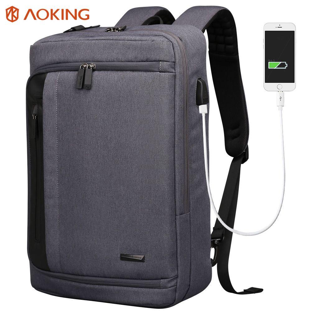Aoking hommes sac à dos pour ordinateur portable grande capacité multifonctionnel collège école sac à dos sacs d'affaires sac à dos Designer sac à dos