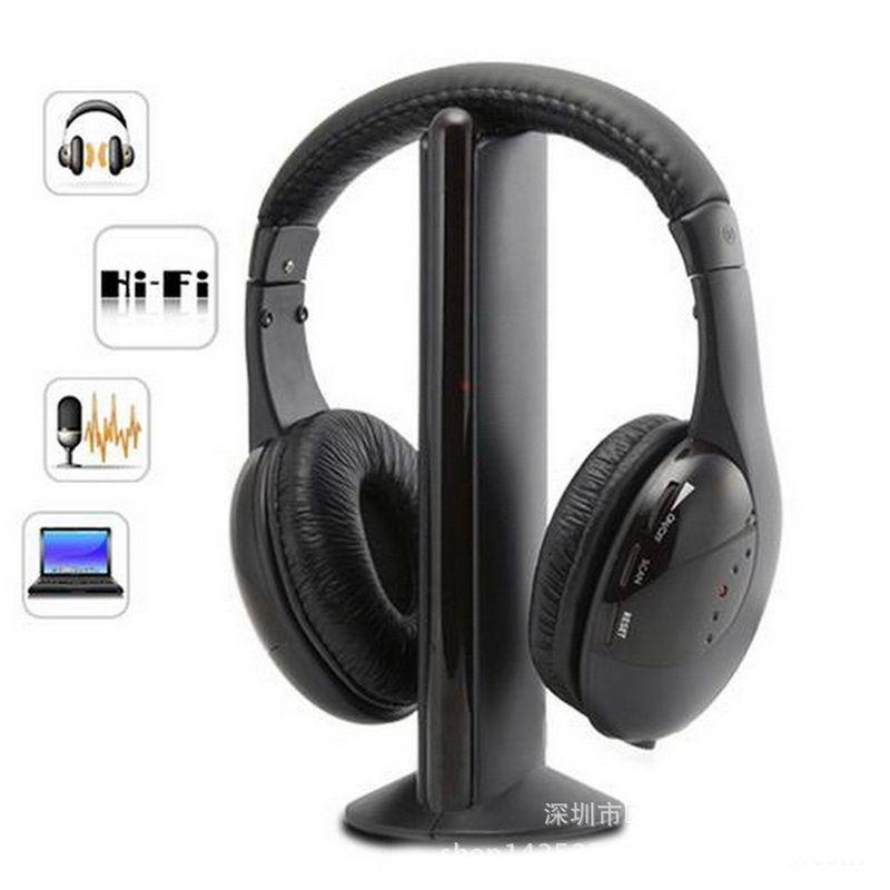 2019 Sans Fil Ecouteur Hi-Fi écouteur, multifonction stéréo casque Sans Fil casque avec Microphone FM Radio pour ordinateur de télévision