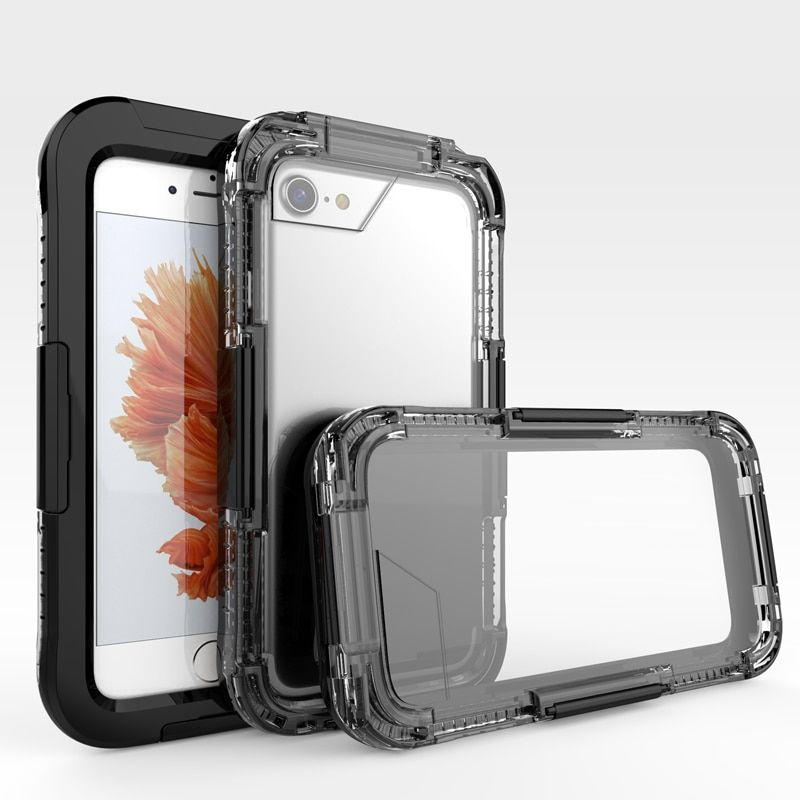IP68 5M Swimming Case for iPhone 7 Waterproof Case Acrylic Clear Diving Cover Anti-knock Funda Case for iPhone 7 Plus Underwater