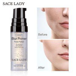SACE señora desenfoque maquillaje Base 6 ml cara 24 K oro Elixir Control de aceite mate profesional maquillaje Pores marca Fundación Primer
