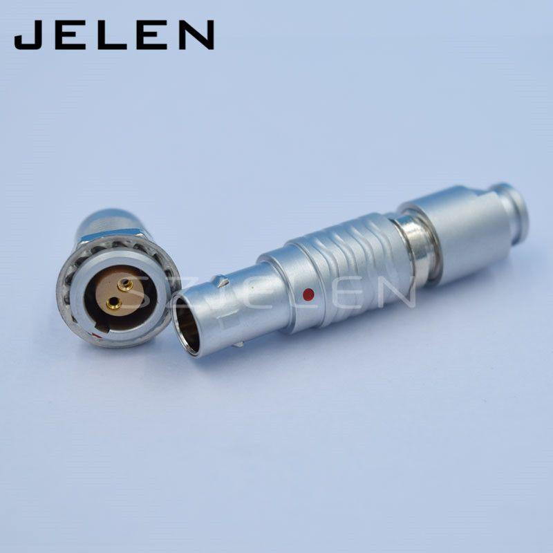Connecteur EGG.0B. 302.CLL, FGG.0B. 302, métal circulaire connecteur 2-pin plug et socket